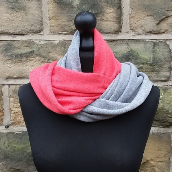 Hope Infinity Scarf Geranium & Light Pewter